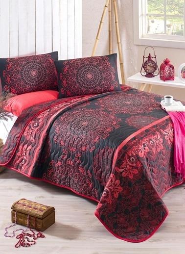Eponj Home Tek Kişilik Yatak Örtüsü Kırmızı